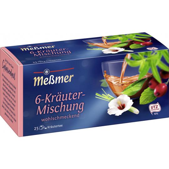 Meßmer Tee 6-Kräuter Mischung 25ST 50G