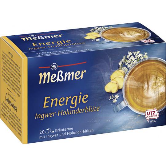 Meßmer Wohlfühltee Energie Ingwer-Holunderblüte 20ST 40G