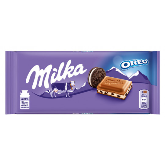 Milka Alpenmilch Schokolade mit Oreo-Stückchen 100 g