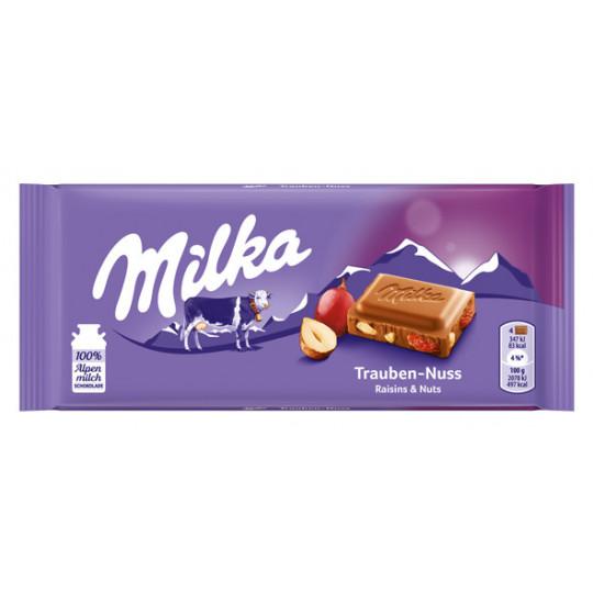 Milka Trauben Nuss Schokolade 100 g
