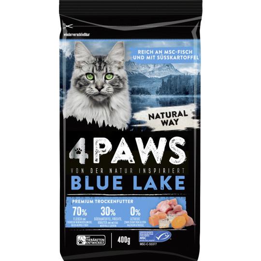 4 Paws Blue Lake Premium Trockenfutter reich an MSC Fisch mit Süsskartoffel 400G