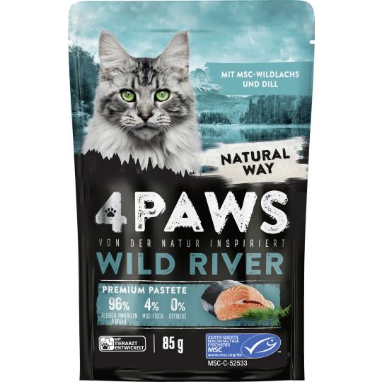 4 Paws Wild River Wildlachs und Dill 85G