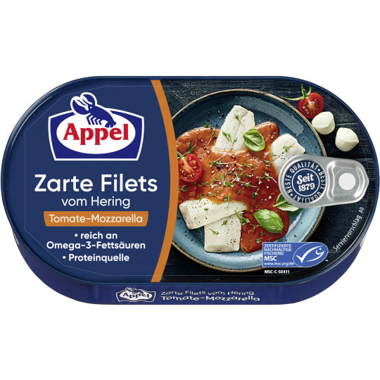 Appel zarte Heringsfilets in Tomate-Mozzarella 200G