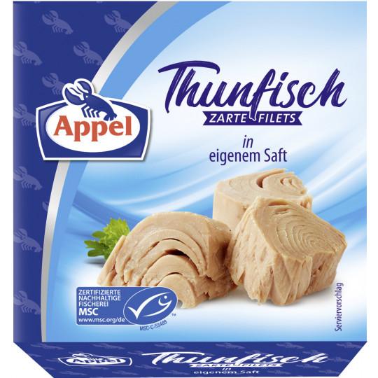 Appel zarte Thunfischfilets in eigenem Saft 185G