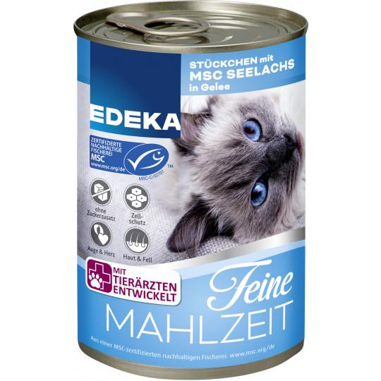 EDEKA Feine Mahlzeit Stückchen mit MSC Seelachs in Gelee 400G