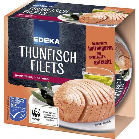 EDEKA Thunfischfilets in Olivenöl 185 g