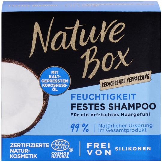 Nature Box Feuchtigkeit festes Shampoo Kokosnuss-Öl 85g