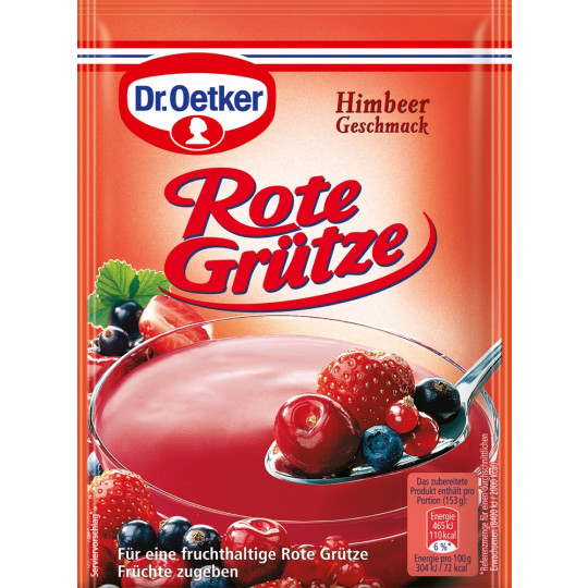 Dr.Oetker Rote Grütze Himbeer-Geschmack 3x 40 g