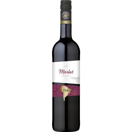 OverSeas Chile Merlot Rotwein 2020 0,75 ltr