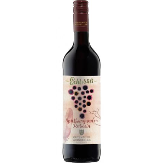 Ortenauer Weinkeller Echt Süß Spätburgunder Rotwein 0,75L