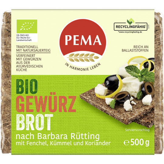 Pema Bio Gewürz Brot nach Barbara Rütting 500G