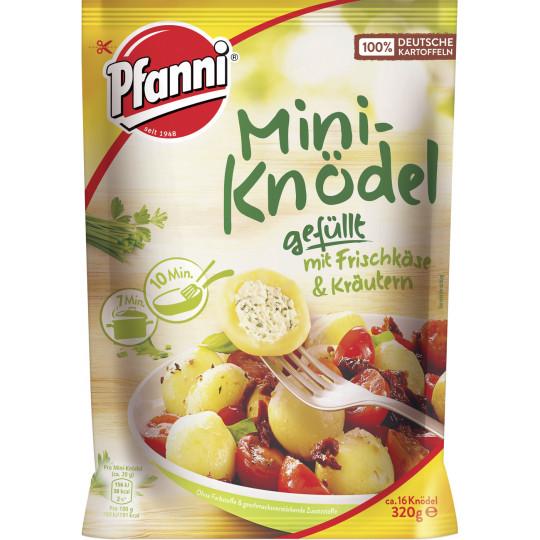 Pfanni Mini-Knödel gefüllt mit Frischkäse und Kräutern