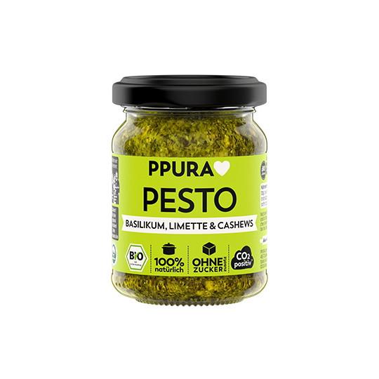 PPURA Bio Pesto Basilikum, Limette & Cashews 120G