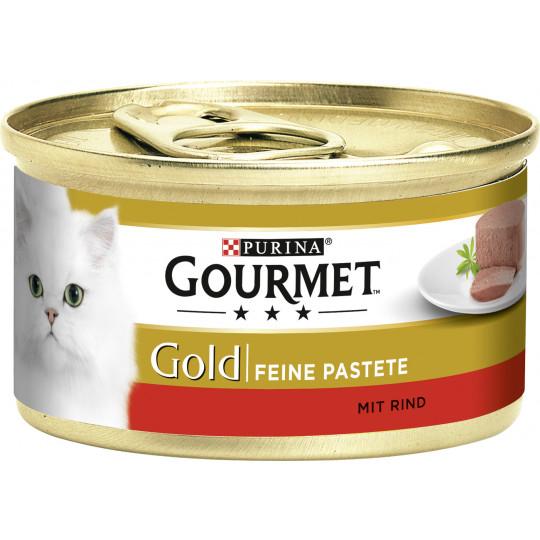 Purina Gourmet Gold Feine Pastete mit Rind 85G