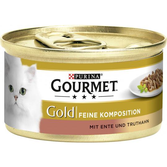 Purina Gourmet Gold mit Ente & Truthahn 85G