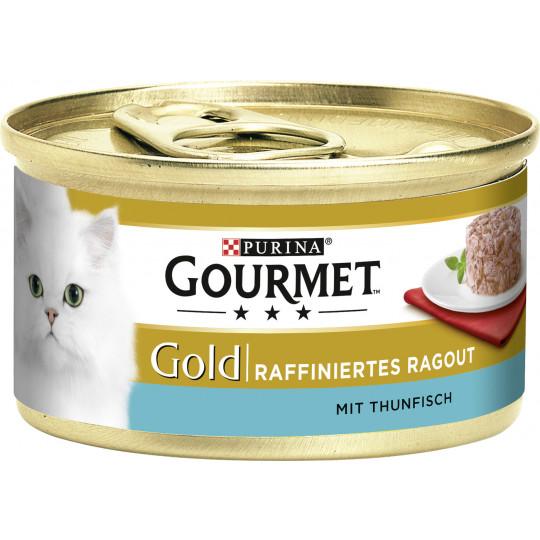 Purina Gourmet Gold Raffiniertes Ragout mit Thunfisch 85G