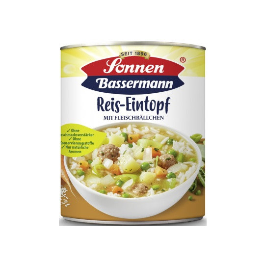 Sonnen Bassermann Reis-Eintopf mit Fleischbällchen 800 g
