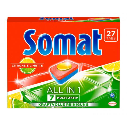 Somat 7 All in 1 Multi-Aktiv Zitrone & Limette 27 Tabs