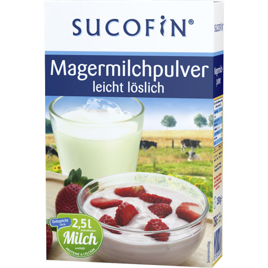 Sucofin Magermilchpulver leicht löslich 250G