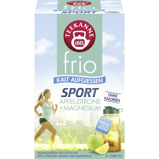 Teekanne Frio Sport Apfel-Zitrone + Magnesium 18ST 45G