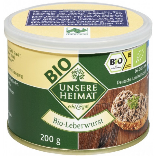 Unsere Heimat Bio-Leberwurst 200 g