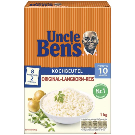 Uncle Ben's Spitzen Langkorn Reis 10 Minuten im Kochbeutel 1KG