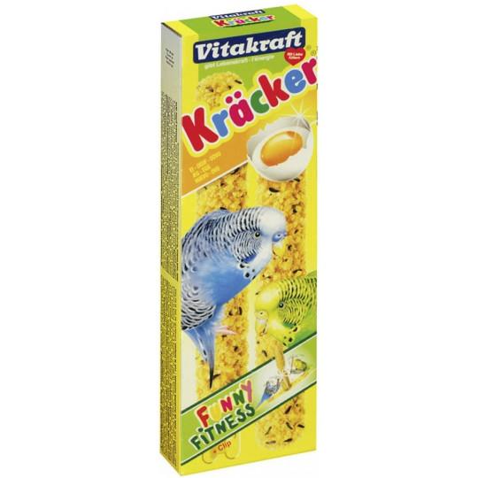Vitakraft Kräcker Ei & Grassamen für Wellensittiche 2x 27 g