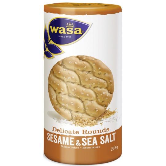 Wasa Delicate Rounds Sesame & Sea Salt 235G