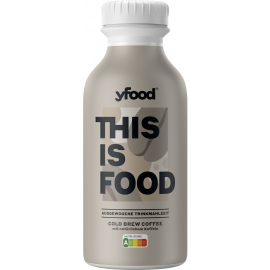 YFood Cold Brew Coffee Trinkmahlzeit 500ml