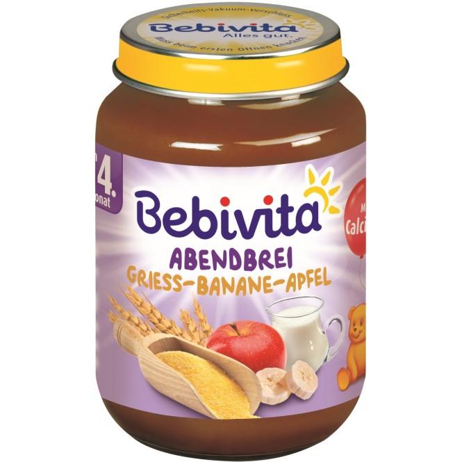 Bebivita Abendbrei - Grieß-Banane-Apfel nach dem 4. Monat