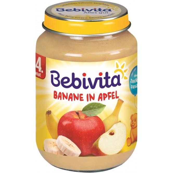 Bebivita Banane in Apfel nach dem 4. MOnat