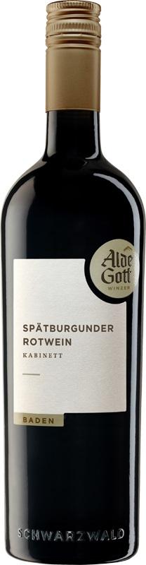 Alde Gott Spätburgunder Rotwein Kabinett 2016 0,75 ltr