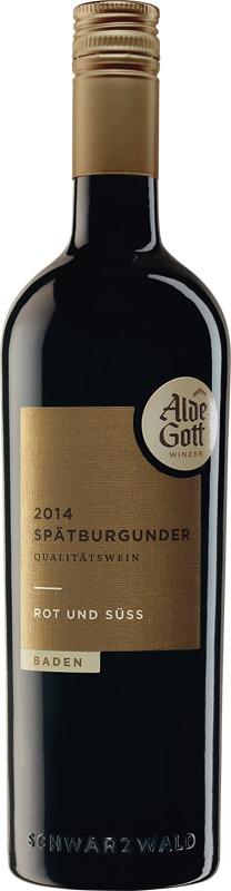 Alde Gott Spätburgunder Rotwein Rot&Süß 2016 0,75 ltr