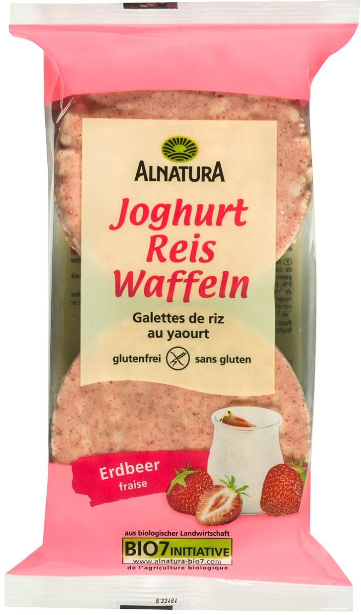 Besondere Geschenkideen von Edeka: Alnatura Bio Joghurt Reis Waffeln Erdbee