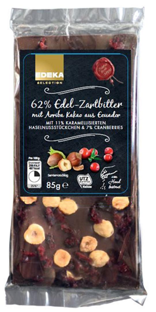 Besondere Geschenkideen von Edeka: EDEKA Selection Edel-Zartbitter-Schokola