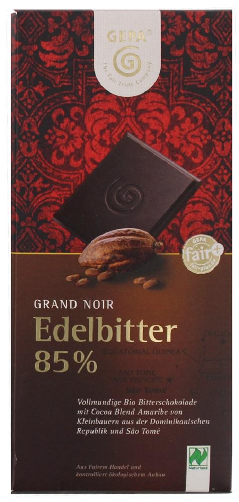 Besondere Geschenkideen von Edeka: GEPA Bio Schokolade Edelbitter
