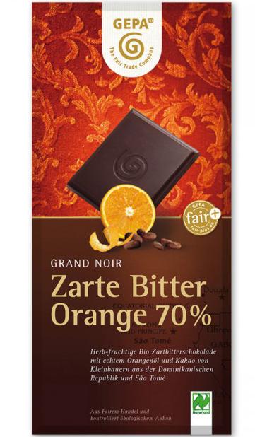 Besondere Geschenkideen von Edeka: GEPA Fairtraderand Noir Orange Bio Schok