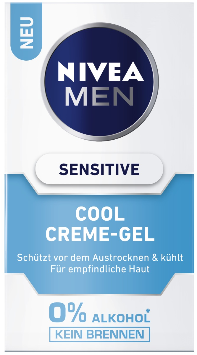 edeka24 nivea for men cool creme gel sensitive online. Black Bedroom Furniture Sets. Home Design Ideas