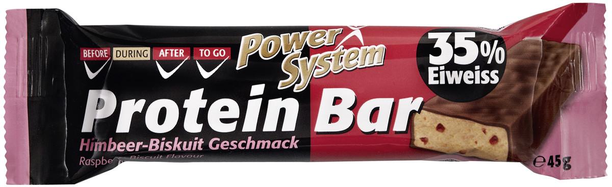 Besondere Geschenkideen von Edeka: Power System Protein Bar Himbeer-Biskuit