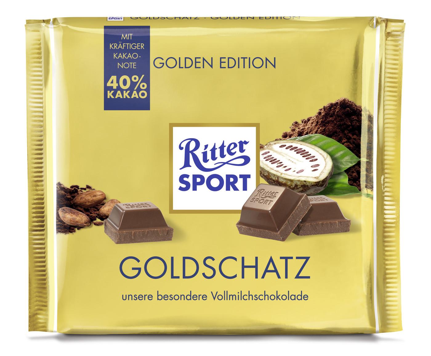 Besondere Geschenkideen von Edeka: Ritter Sport Goldschatz