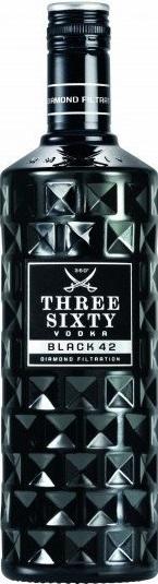 Besondere Geschenkideen von Edeka: Three Sixty Vodka Black2