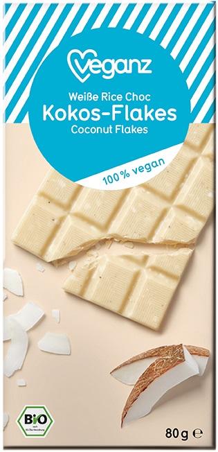 Besondere Geschenkideen von Edeka: Veganz Bio Weiße Rice Choc Kokos-Flakes