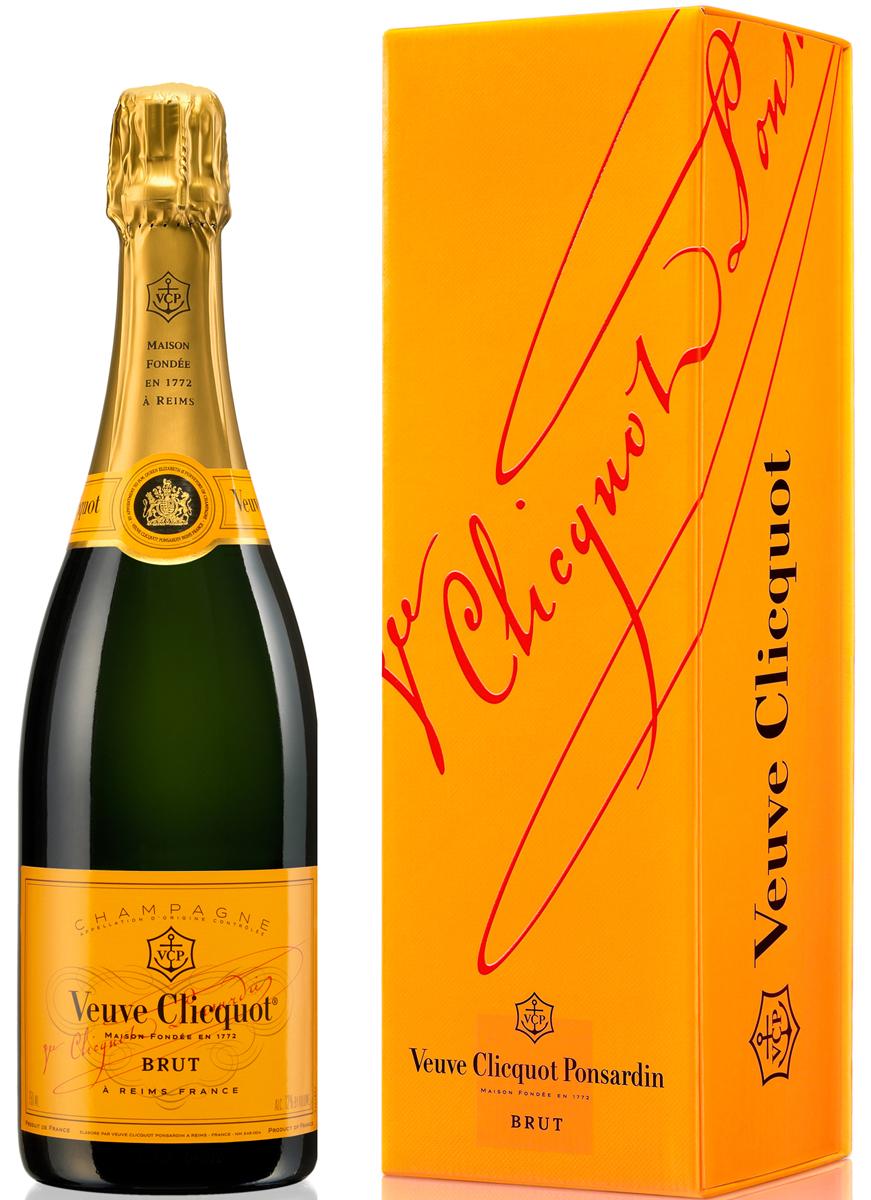 Besondere Geschenkideen von Edeka: Veuve Clicquot Champagner Brut mit Gesch