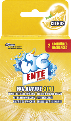 WC Ente WC active 3in1 Citrus Nachfüller Duftspüler 2 Stück